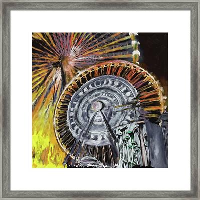 Festival Of Lights, Lyon 3 260 3 Framed Print by Mawra Tahreem