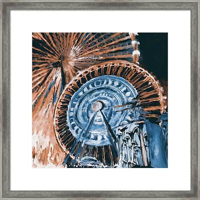 Festival Of Lights, Lyon 3 260 4 Framed Print by Mawra Tahreem