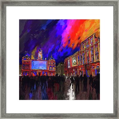 Festival Of Lights, Lyon 4 261 1 Framed Print by Mawra Tahreem
