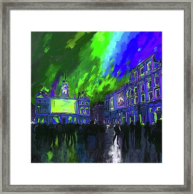 Festival Of Lights Lyon 4 261 4 Framed Print by Mawra Tahreem