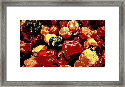 Festival Of Peppers Framed Print