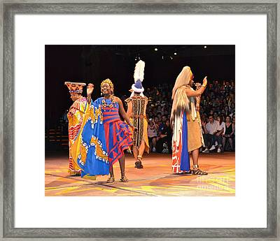 Festival Of The Lion King Framed Print