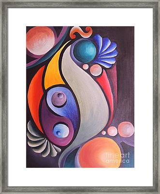 Festival Framed Print by Reina Cottier
