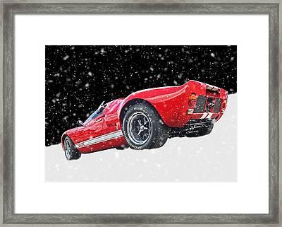 Festive Ford Gt40 Framed Print