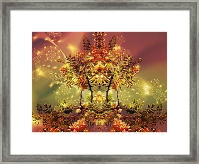 Festive Fractal Framed Print