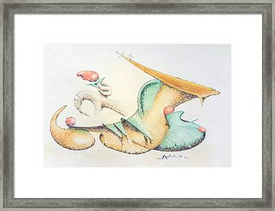 Festive Horn Framed Print