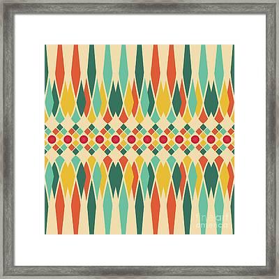 Festive Pattern Framed Print