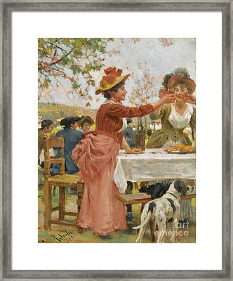 Festivities In The Campagna Framed Print by Celestial Images