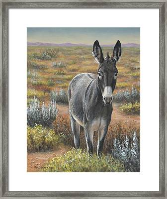 Framed Print featuring the painting Festus by Kim Lockman