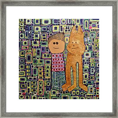 Framed Print featuring the painting Fetch.. You Fetch by Donna Howard