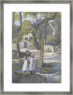 Fetching Water Framed Print by Celestial Images