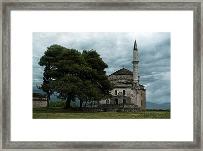 Fethiye Camii Mosque On A Cloudy Day Framed Print