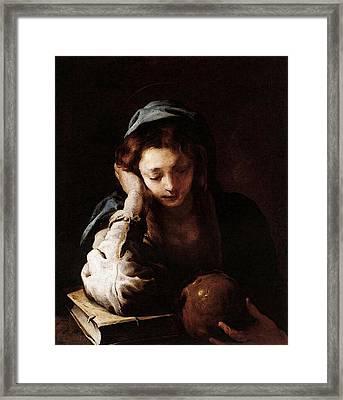 Feti Domenico The Repentant St Mary Magdalene Framed Print by Domenico Feti