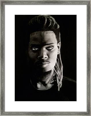 Fetty Wap Drawing Framed Print by Angelee Borrero