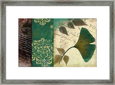 Feuilles Leaves Framed Print