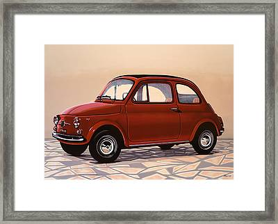 Fiat 500 1957 Painting Framed Print by Paul Meijering