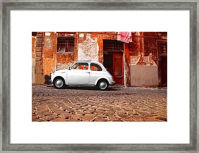 Fiat 500 Framed Print by Valentino Visentini