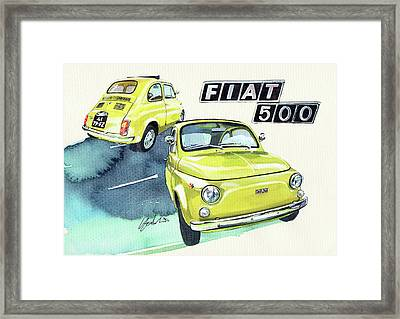 Fiat 500r Framed Print