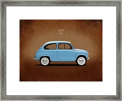 Fiat 600 1956 Framed Print