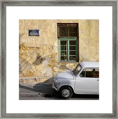 Fiat 600. Belgrade. Serbia Framed Print