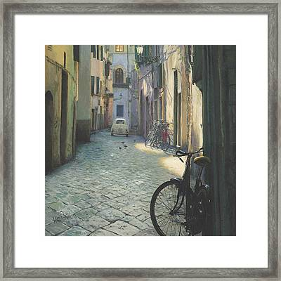 Fiat In Florence Framed Print by Helen Parsley
