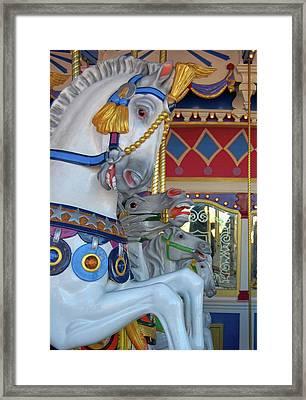 Fiberglass Steeds Framed Print by JAMART Photography