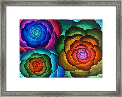 Fibonacci Flowers Framed Print by Jennifer Baird