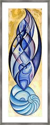 Fibonacci Rising Framed Print by Michell Rosenthal