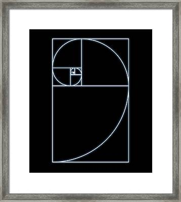 Fibonacci Spiral, Artwork Framed Print by Seymour