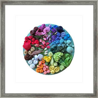 Fibre And Flowers Framed Print