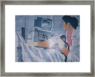 Fibroscopie 2005 Framed Print by Mohamed-Hosni Belkorchi