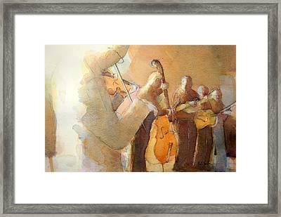Fiddle Break Framed Print