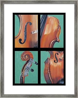 Fiddle Quartet Framed Print by Emily Page