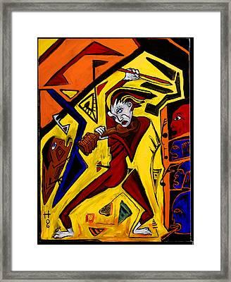 Fiddler 40x30 Framed Print