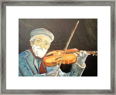 Fiddler Blue Framed Print by J Bauer