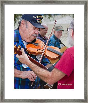 Fiddlers Contest Framed Print by David Wagner