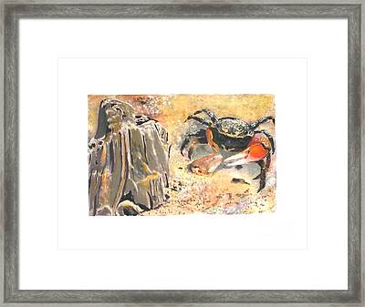 Framed Print featuring the painting Fiddling Around by Sibby S