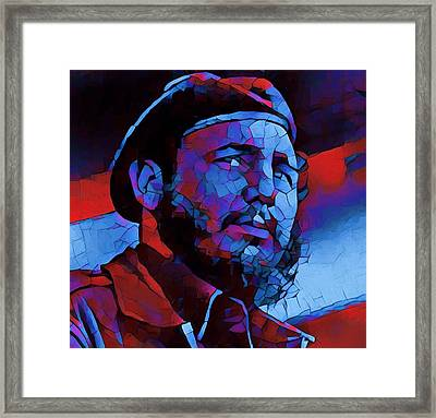 Fidel Framed Print by Dan Sproul