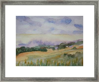 Field And Sky 1 Framed Print by Warren Thompson
