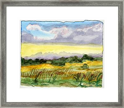 Field And Sky 2 Framed Print by Warren Thompson