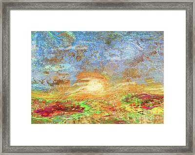 Field At Sunset Framed Print by Desiree Paquette