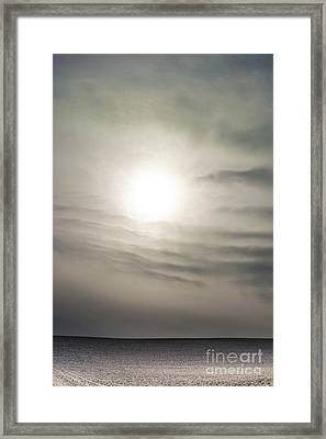Field Covered With Snow. Auvergne. France. Europe. Framed Print
