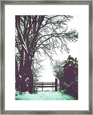 Field Gate Framed Print