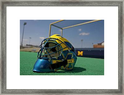 Field Hockey Helmet Framed Print
