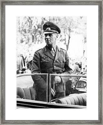 Field Marshal Erwin Rommel Reaches Framed Print
