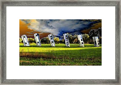 Field Of Airstreams Framed Print