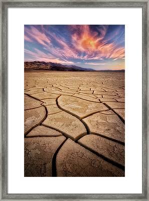 Field Of Cracks Framed Print