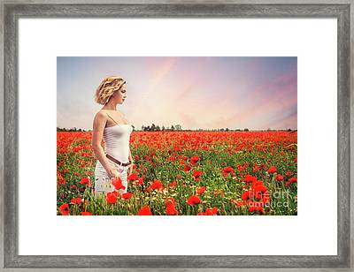 Field Of Dreams Framed Print by Evelina Kremsdorf