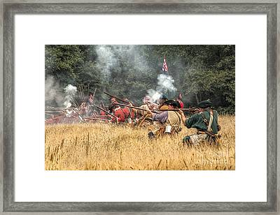 Field Of Fire French And Indian War Battle Framed Print by Randy Steele