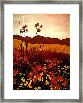 Field Of Flowers Framed Print by Cynthia Decker